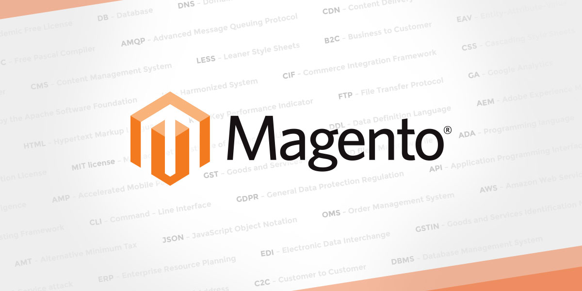 Abbreviations and Acronyms used in Magento 2
